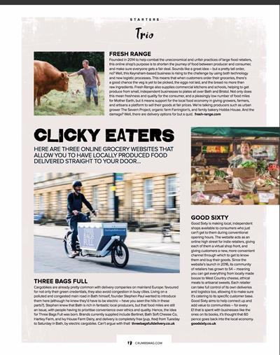 Online Grocery Feature, Crumbs Magazine - August 2017
