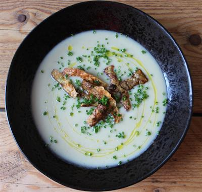 Jerusalem Artichoke and Celeriac Soup