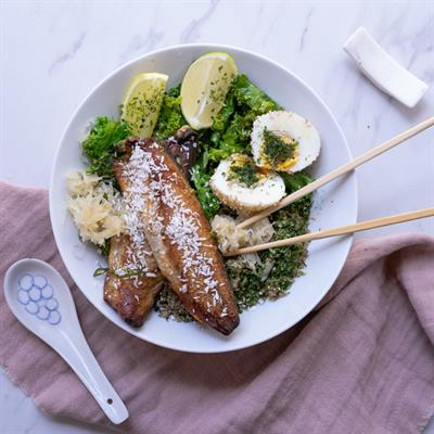 Asian Grilled Mackerel Fillet Bowl Collection