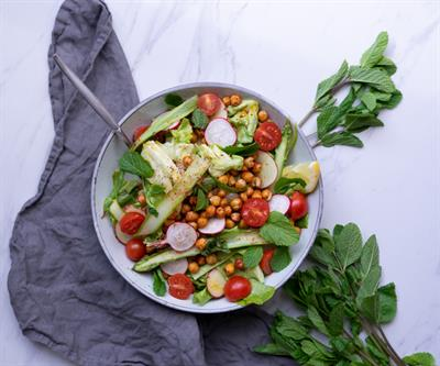 Spring Asparagus Salad with Citrus Mustard Dressing Vegan Collection